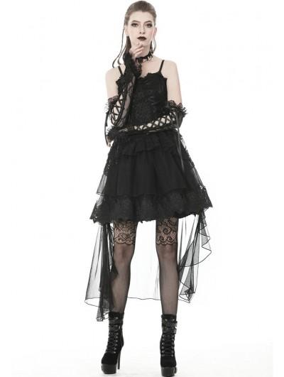 Dark in Love Black Gothic Lacey Gloves