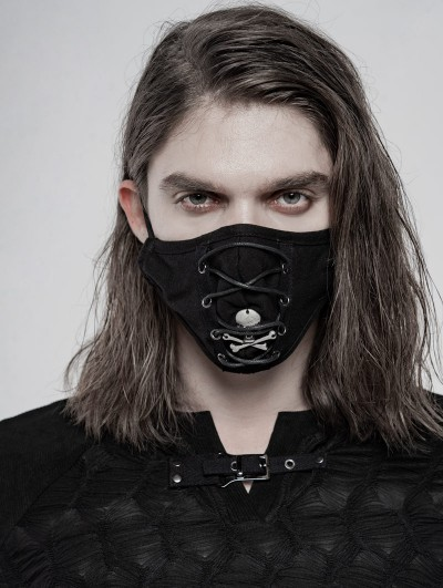 Punk Rave Black Gothic Daily Punk Ghost Mask for Men