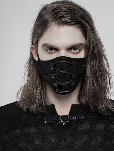Punk Rave Black Gothic Daily Mask for Men