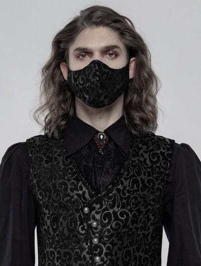 Punk Rave Black Gothic Jacquard Masks for Men