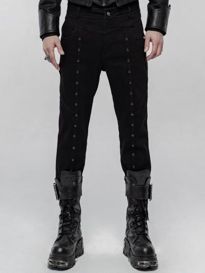 Punk Rave Black Gothic Punk Winter Trousers for Men