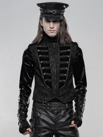 Punk Rave Black Gorgeous Retro Gothic Vest for Men