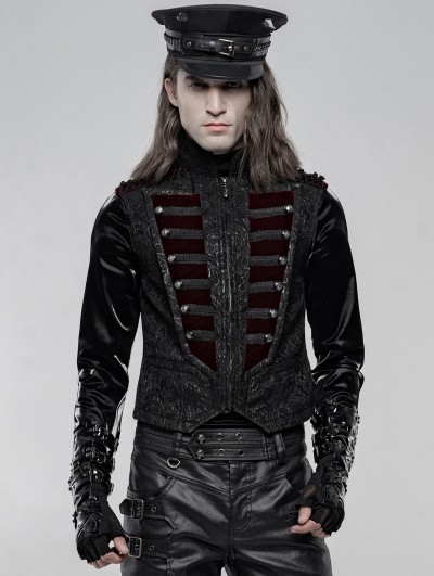 Punk Rave Black and Red Gorgeous Retro Gothic Vest for Men