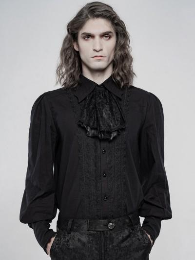 Punk Rave Black Vintage Gothic Gorgeous Court Long Sleeve Shirt for Men