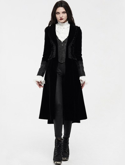Punk Rave Black Retro Noble Gothic Vampire Coat for Women