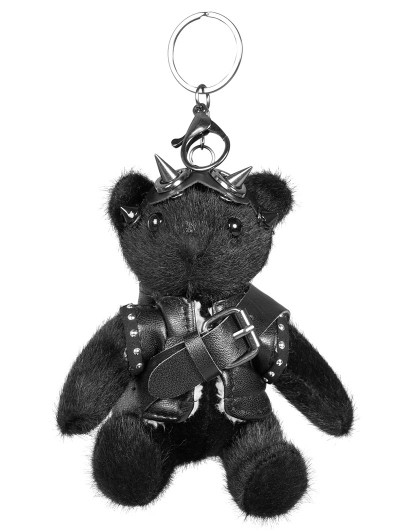 Punk Rave Black Gothic Punk Bear Dolls Accessory