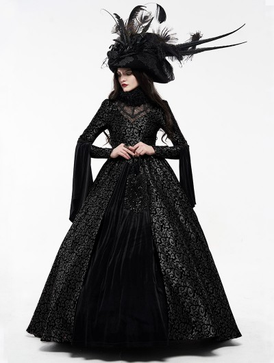 Punk Rave Black Gogerous Court Gothic Victorian Dress