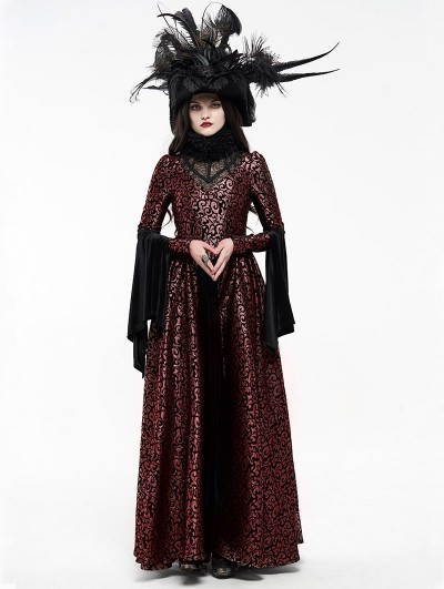 Punk Rave Red Gogerous Court Gothic Victorian dress