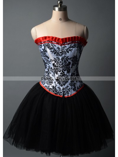 Short Gothic Burlesque Corset Prom Party Dress