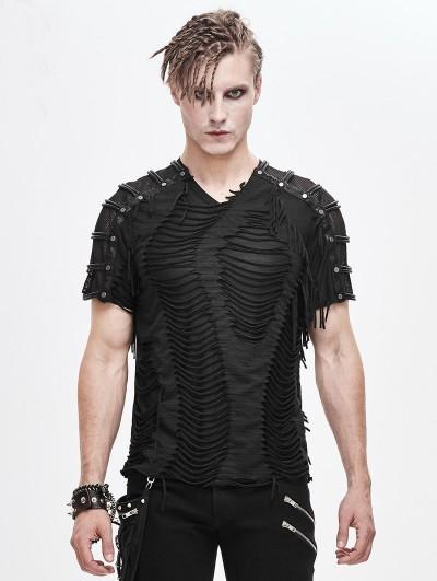 Devil Fashion Black Gothic Punk Rock Short Sleeve T-Shirt for Men
