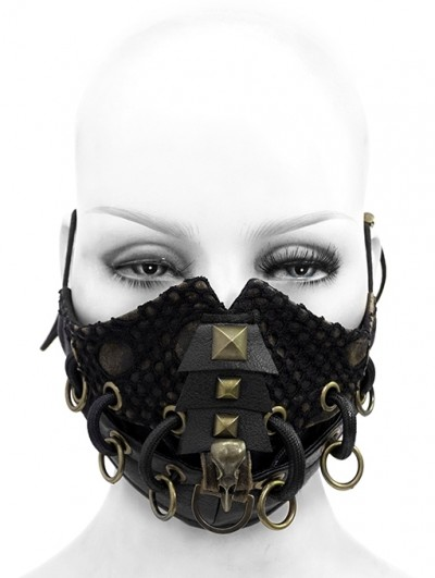 Devil Fashion Black Gothic Punk Heavy Metal Mask