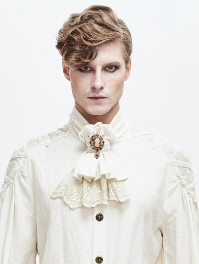 Devil Fashion Ivory Retro Palace Gothic Steampunk Bowtie for Men