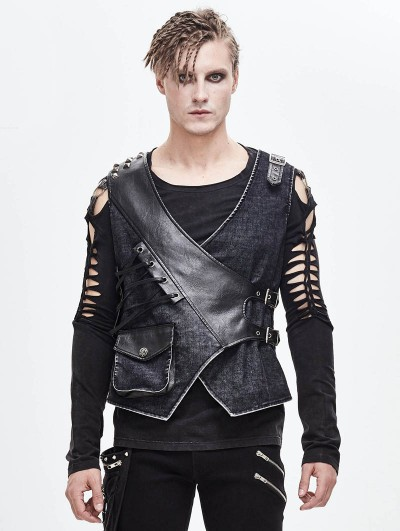 Devil Fashion Vintage Gothic Vest for Men