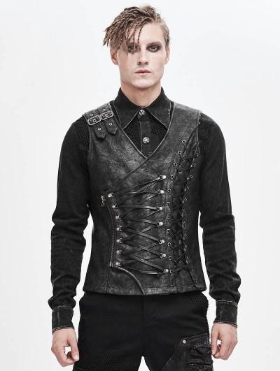 Devil Fashion Gothic Punk Military Uniform Vest for Men