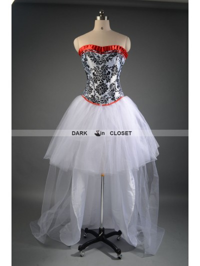 Fashion Gothic High-Low Corset Prom Party Dress