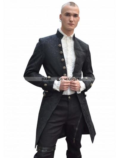 Pentagramme Black Alternative Jacket Coat for Men