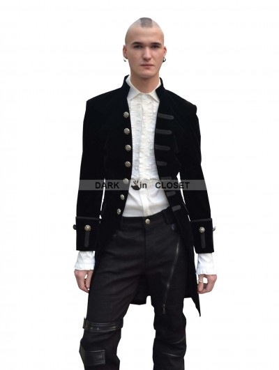Pentagramme Black Alternative Pattern Gothic Jacket for Men