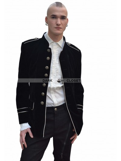 Pentagramme Black Military Style Gothic Jacket for Men