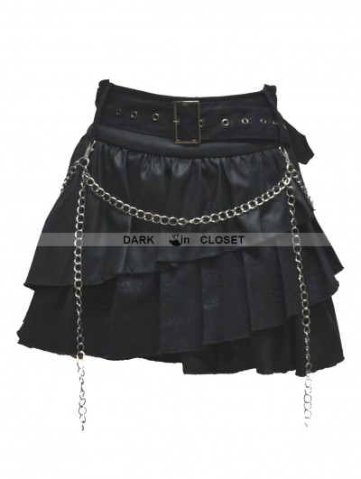 Pentagramme Black Gothic Punk Short Skirt