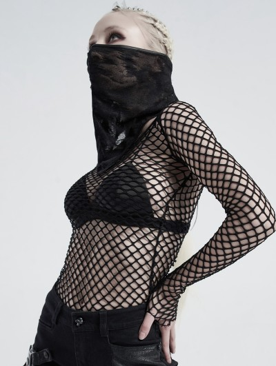 Punk Rave Black Gothic Mysterious Dustproof Triangular Scarf