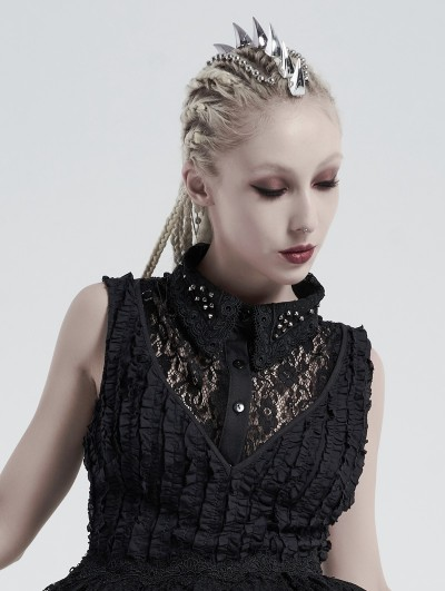 Punk Rave Black Vintage Gothic Independent Lace Collar for Women