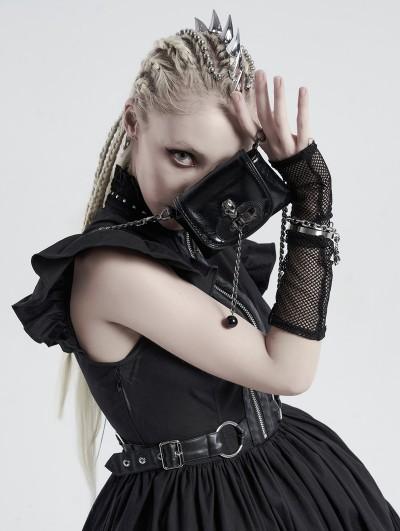 Punk Rave Black Gothic Punk Skull PU Leather Mini Bag