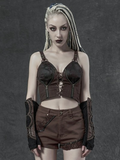 Punk Rave Coffee Steampunk Vest Top for Women