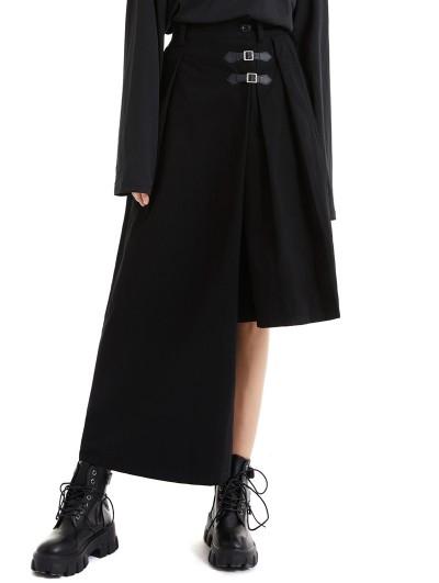 Pentagramme Black Fashion Gothic Asymmetrical Daily Wear Pants for Women
