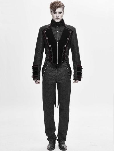 Devil Fashion Black Retro Gothic Party Swallow Tail Coat for Men