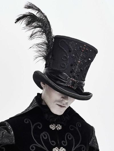 Devil Fashion Black Retro Gothic Hat for Men