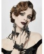 Devil Fashion Black Gothic Dark Vampire Queen Bracelet with Finger Cover