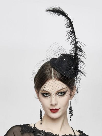 Devil Fashion Black Gothic Party Flower Hat Headdress