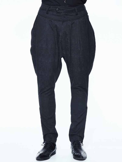 Devil Fashion Black Vintage Jacquard Gothic Long Pants for Men