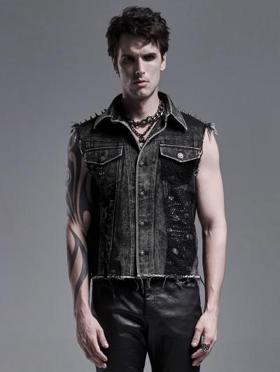 Punk Rave Do Old Gothic Punk Heavy Metal Vest Top for Men
