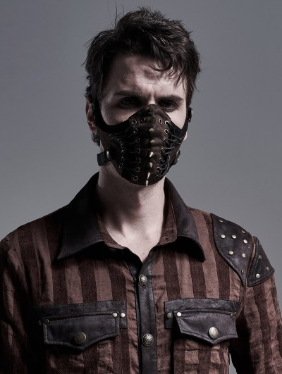 Punk Rave Brown Gothic Punk Mask for Men