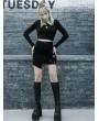 Punk Rave Black Street Fashion Gothic Punk Grunge Irregular Mini Skirt