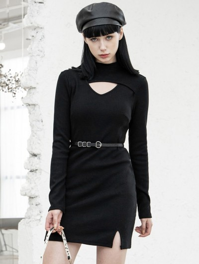 Punk Rave Black Street Fashion Gothic Grunge Short Daily Wear Dress