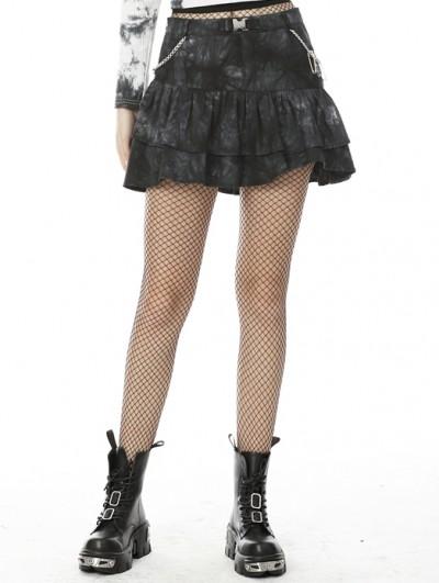 Dark in Love Dark Mysterious Forest Pattern Gothic Mini Skirt