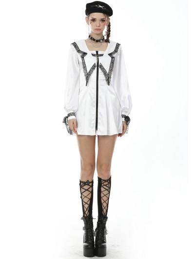 Dark in Love The Underworld Butterfly Asceticism White Dark Gothic Short Dress