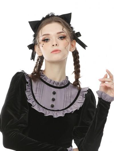 Dark in Love Black Sweet Gothic Cat Ears Headdress