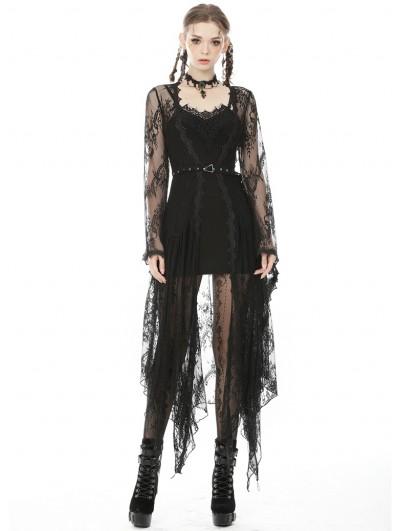 Dark in Love Black Sexy Gothic Slim Sleeveless Mini Dress