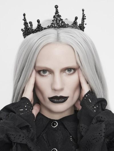 Eva Lady Black Vintage Gothic Queen Crown Headdress