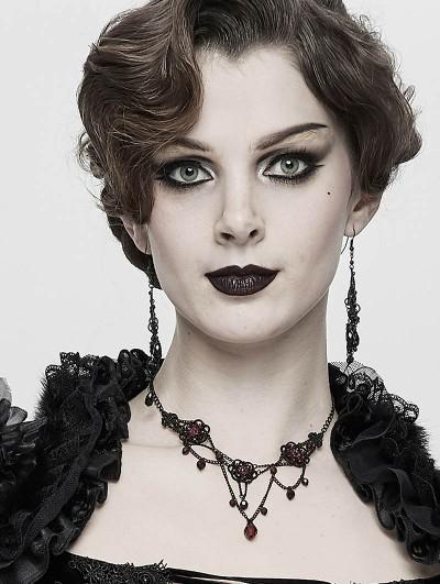 Eva Lady Dark Gothic Chain Pendant Necklace