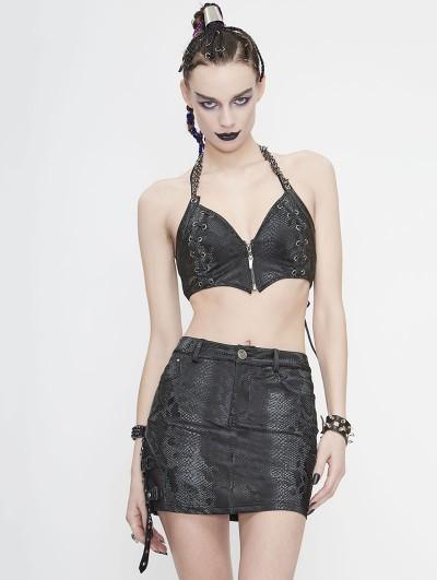 Devil Fashion Black Gothic Punk Sexy Vest Top for Women