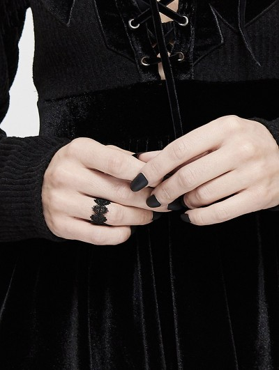 Devil Fashion Black Gothic Vintage Ring