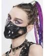 Devil Fashion Black Gothic Punk PU Leather Tusk Mask