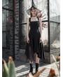 Punk Rave Black Street Fashion Daily Wear Gothic Grunge Irregular Long Dress