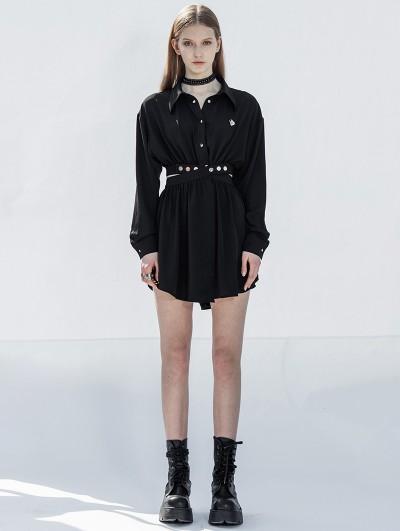 Punk Rave Black Street Fashion Daily Wear Gothic Grunge Short Dress