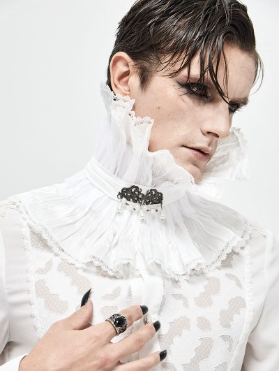 Devil Fashion White Gothic Collar for Men