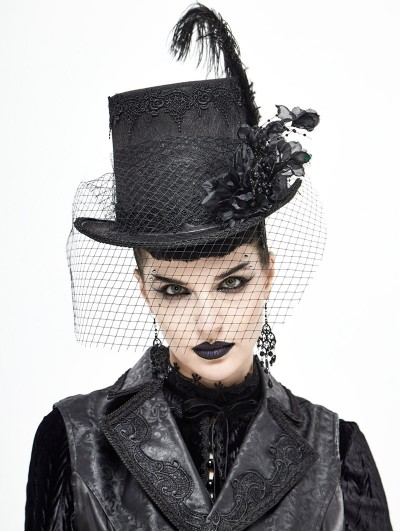 Devil Fashion Black Vintage Gothic Party Unisex Hat